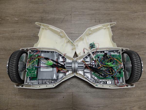 interno di un hoverboard